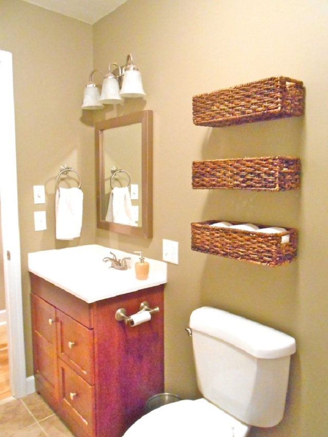 storage for bathroom