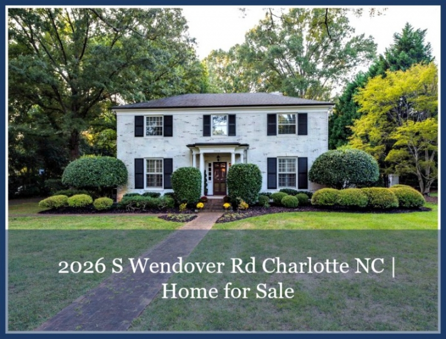 Charlotte NC Real Estate Properties for Sale - Make your suburban dream lifestyle come true in this Charlotte home for sale in Myers Park.