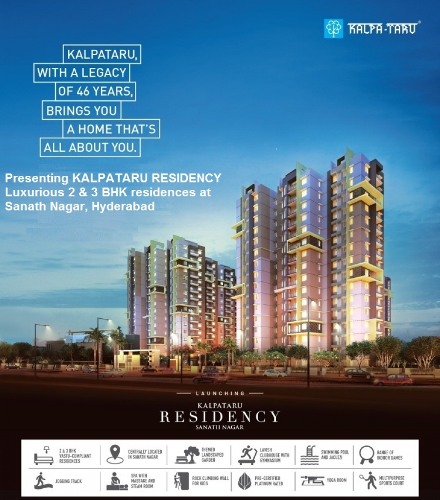 Kalpataru Residency - Apartments with Residential facilties in Sanath Nagar, Hyderabad