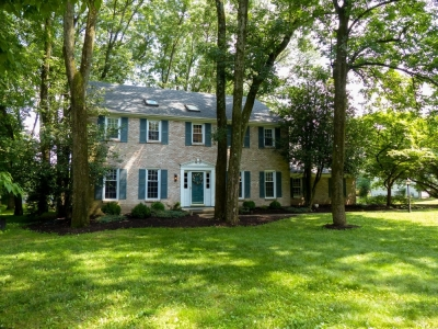 Honey- stop the car! Pristine colonial on serene wooded lot in the heart of Lower Makefield, Bucks County, PA
