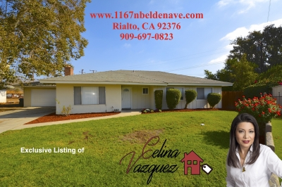 JUST LISTED! 1167 N Belden Ave Rialto CA 92376 For Sale By Celina Vazquez