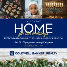 "Coldwell Banker Realty Hosting Virtual ""Home For The Holidays Extravaganza"" To Benefit St. Jude Children's Research Hospital"