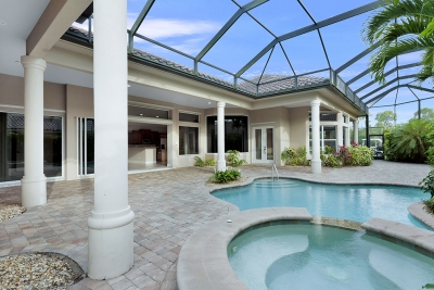 Naples, Florida; Four Bedroom Courtyard Pool Home