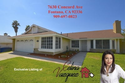 Available Now! 7630 Concord Ave Fontana CA 92336 For Rent By Celina Vazquez