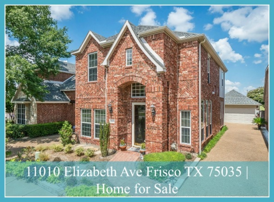 Villages of Hillcrest Home for Sale |11010 Elizabeth Ave Frisco TX 75035