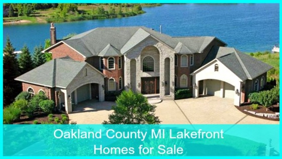 Oakland County MI Lakefront Homes for Sale