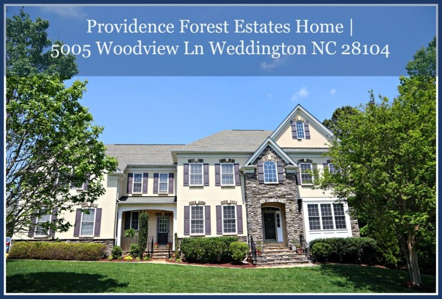 This two level Weddington home for sale is breathtaking!