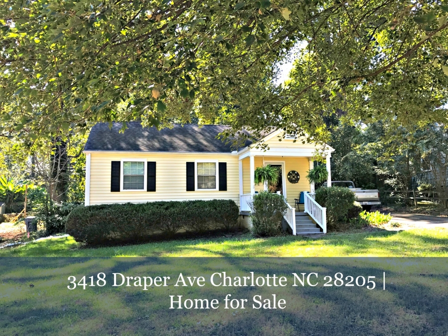 Homes for Sale in Charlotte NC - If you are looking for a peaceful oasis from all the white noise of the city, this house for sale in Charlotte is what you want.