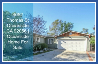 UNDER CONTRACT! 4052 Thomas St Oceanside CA | Single Story Home For Sale
