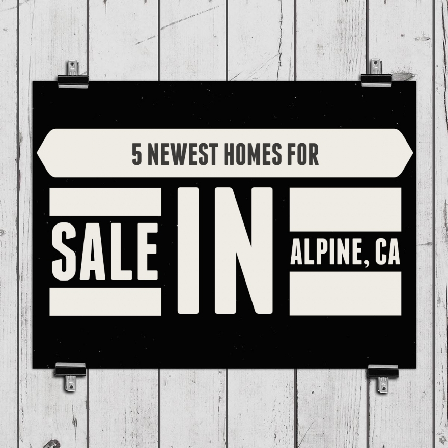 5 Newest Homes for Sale in Alpine