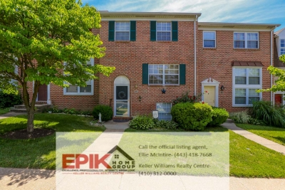 4 Bedroom Townhome in Ellicott City / Centennial High School District
