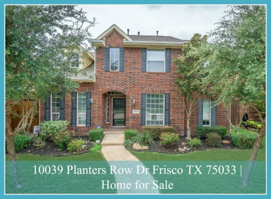 10039 Planters Row Dr Frisco TX 75033 | Trails of West Frisco Home for Sale