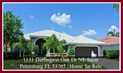1131 Darlington Oak Dr NE St Petersburg  FL 33703|St Petersburg Luxury Home For Sale