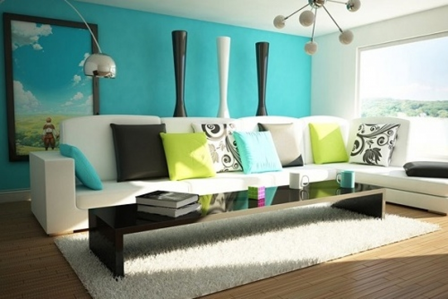 Decorate Your Living Space with Blue Color