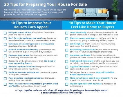 20 Tips for Preparing Your House for Sale in 2021