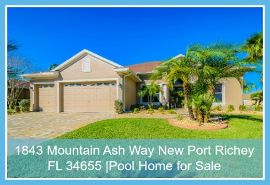 1843 Mountain Ash Way New Port Richey FL 34655 | Pool Home for Sale