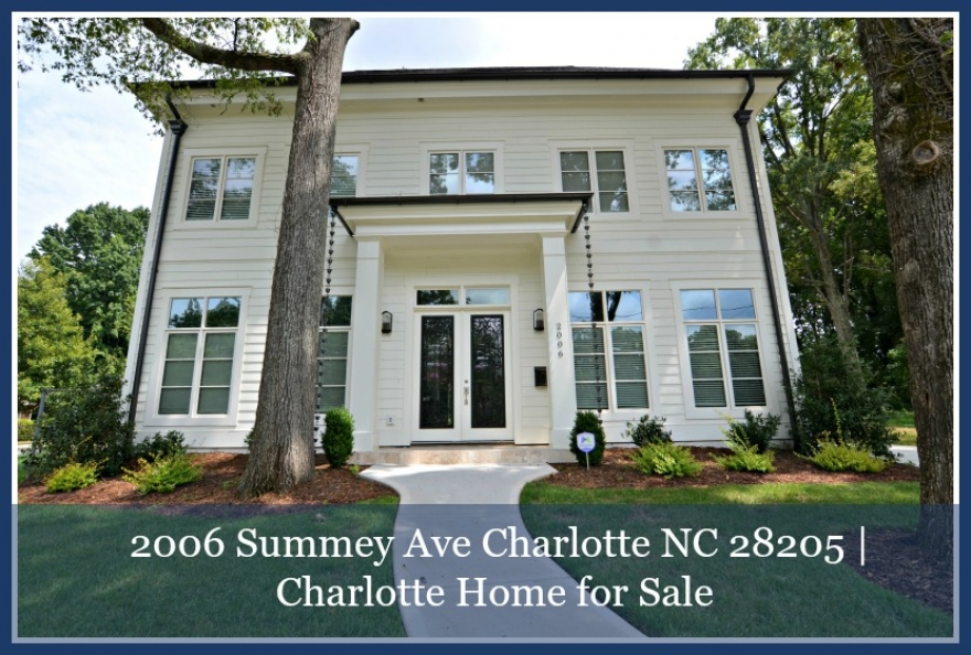 Home for Sale in Charlotte |  2006 Summey Ave Charlotte NC 28205