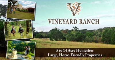 5 to 14 Acre Homesites in Texas