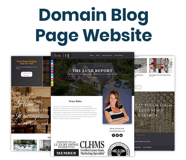 Domain Blog Page Website