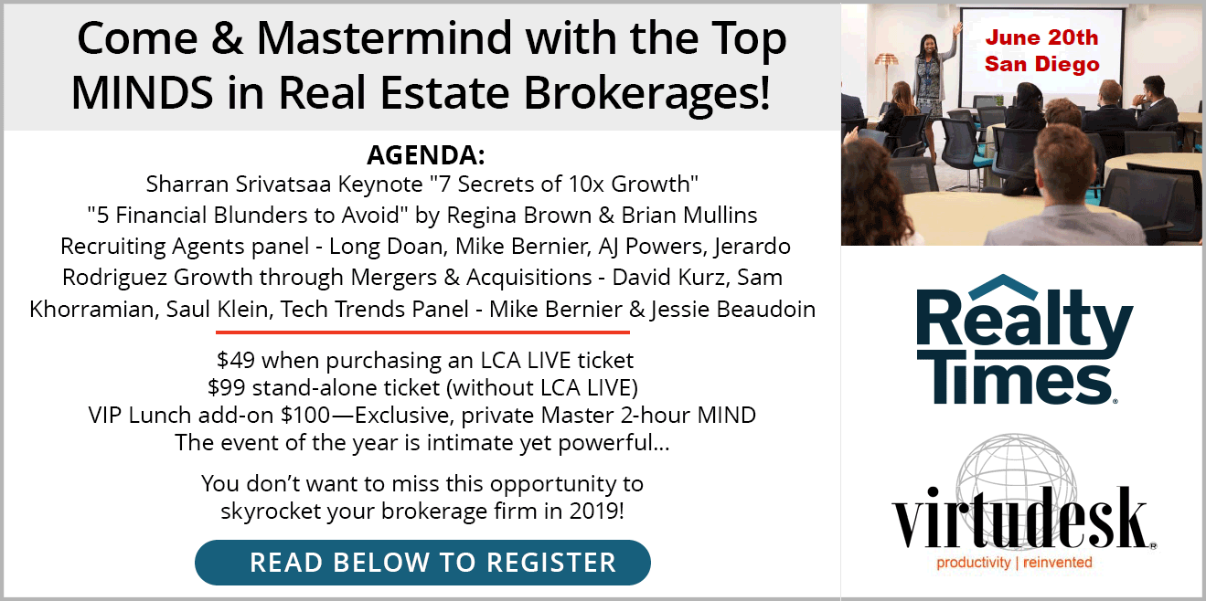 Come & Mastermind with the Top MINDS in Real Estate Brokerages!