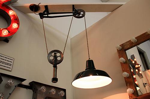 Fullerton pulley lamp