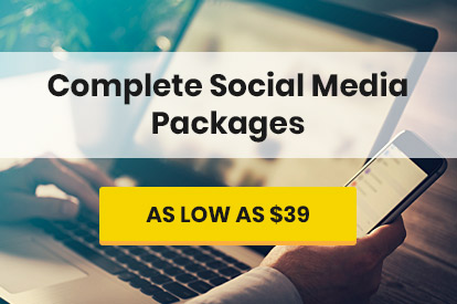 Complete Social Media Packages as Low as $39