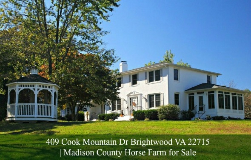 Central Virginia Equestrian Estate for Sale in Madison County |409 Cook Mountain Dr Brightwood VA 22715