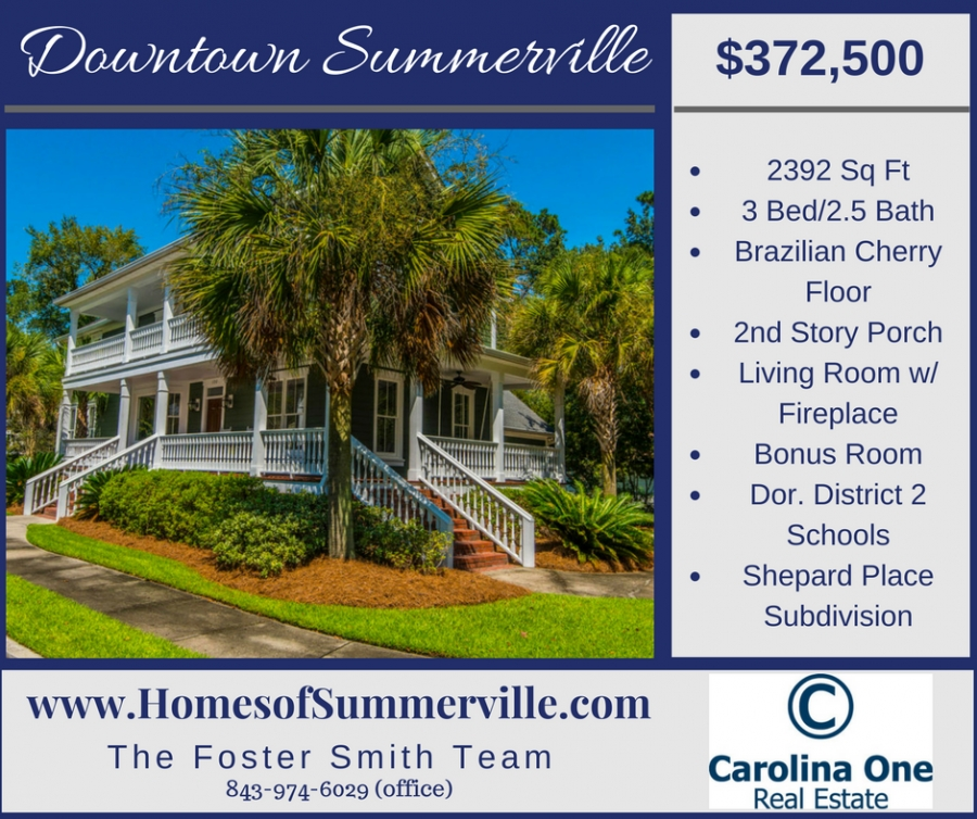 Downtown Summerville Home for Sale