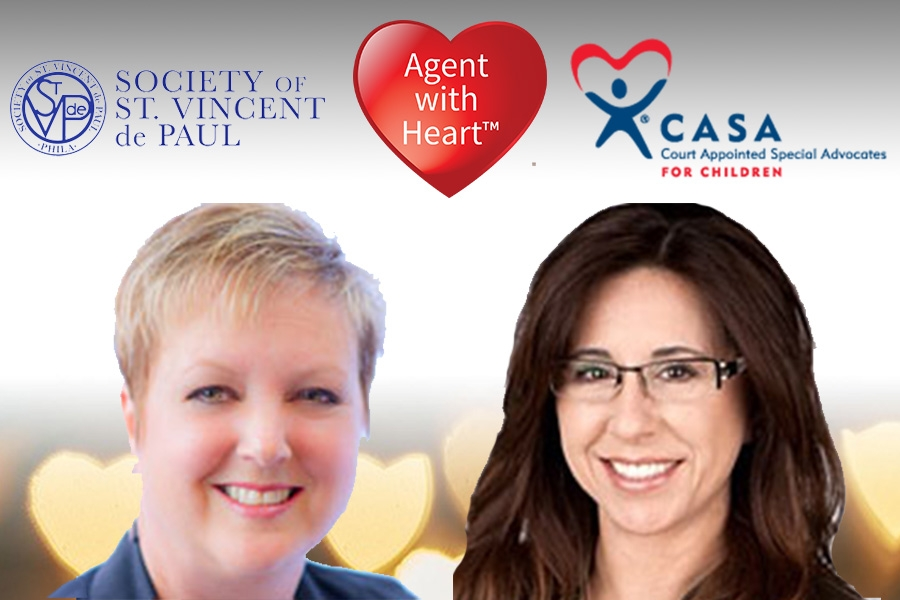 CASA and St. Vincent de Paul Society Receive Generous Donations Through the Innovative Agent with Heart Program.