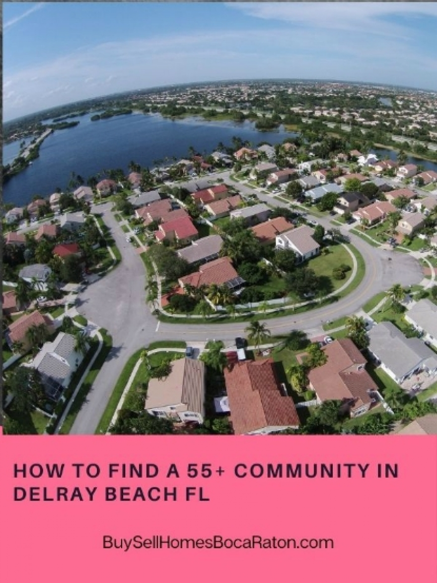 how to find pet friendly 55 communities in delray beach fl