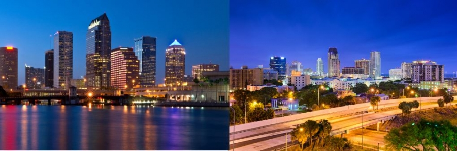 Tampa vs. St Petersburg Florida
