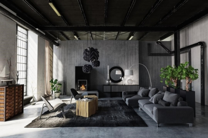 How To Decorate An Industrial Living Room?
