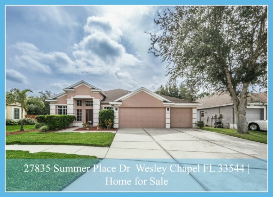 27835 Summer Place Dr Wesley Chapel FL 33544 | Lakes of Northwood Home for Sale