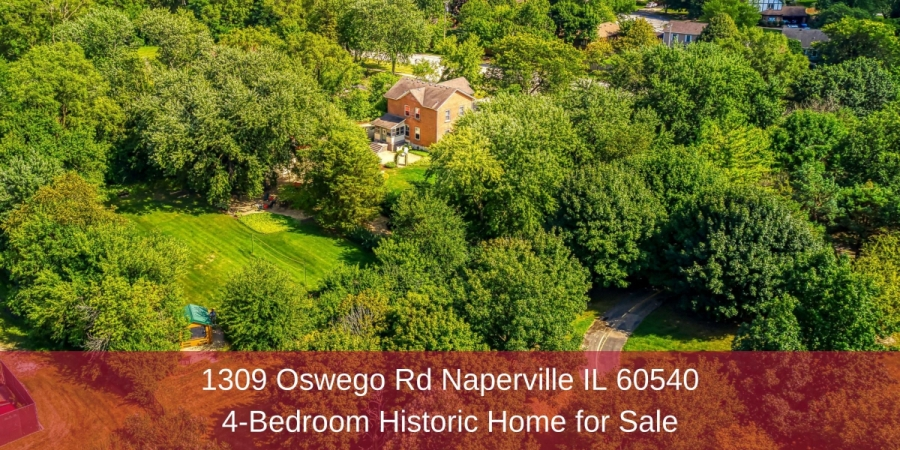 Historic Homes for Sale in Naperville IL - Fall in love with this beautifully maintained historic home for sale in Naperville IL.