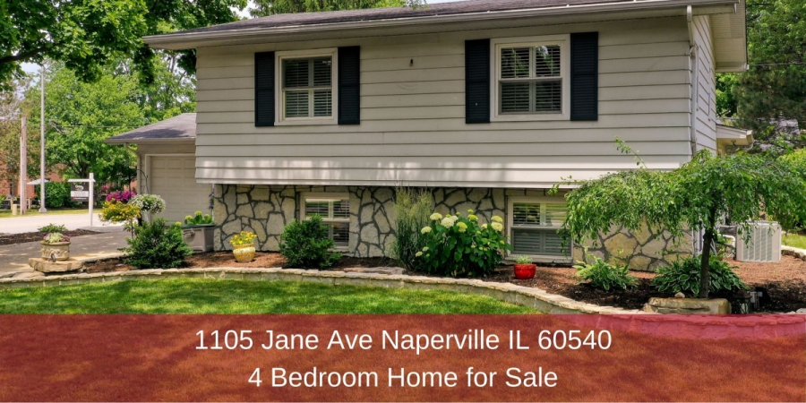 Naperville IL home for sale- Prime location and light-filled living spaces combine in this split-level home in Naperville IL.