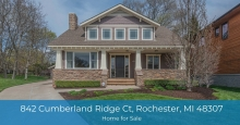 Rochester MI real estate - A unique find in the desirable neighborhood in Rochester MI