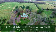 117 Middlebrook Rd Staunton VA 24401 | Virginia Historic Home for Sale