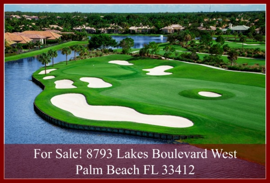 Ibis Golf And Country Club Waterfront Home For Sale In West Palm Beach Fl - 8793 Lakes Boulevard West Palm Beach FL 33412
