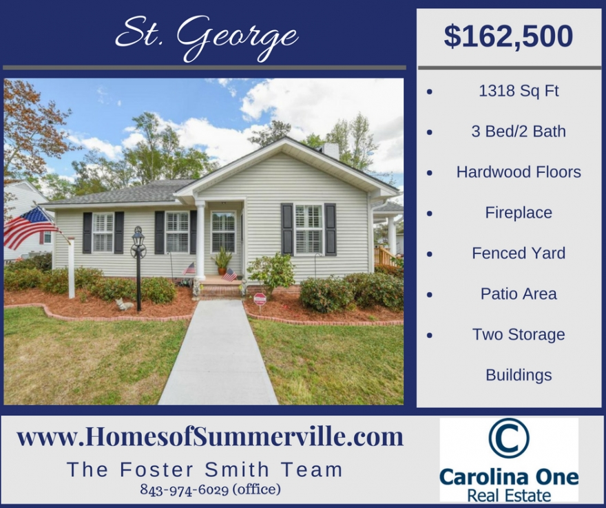 Beautiful Home for Sale in St. George, SC