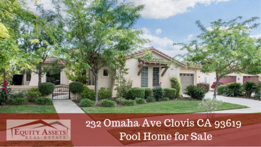 Under Contract for 6 days! 232 Omaha Ave Clovis CA 93619 | Pool Home for Sale