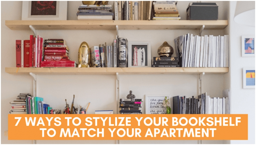 7 Ways to Stylize Your Bookshelf to Match Your Apartment