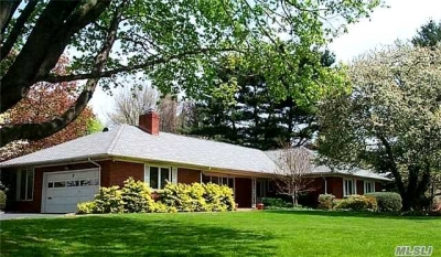 Home For Sale: Brick Ranch On Half Acre Of Park Like Property In Great Neck Estates
