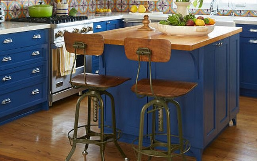 2018 Kitchen Trend: Blue and Green Cabinets