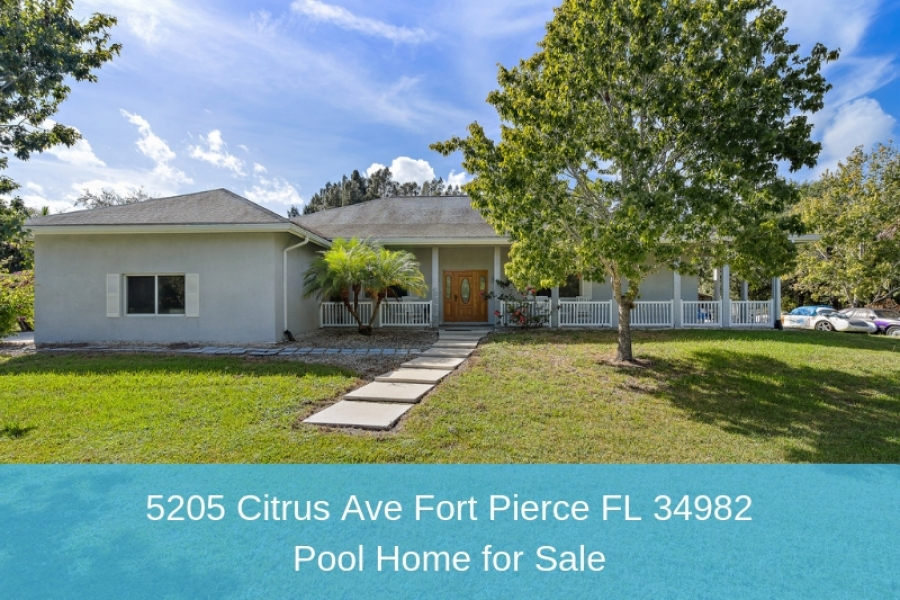 FOR SALE! 5205 Citrus Ave Fort Pierce FL 34982 | Pool Home for Sale