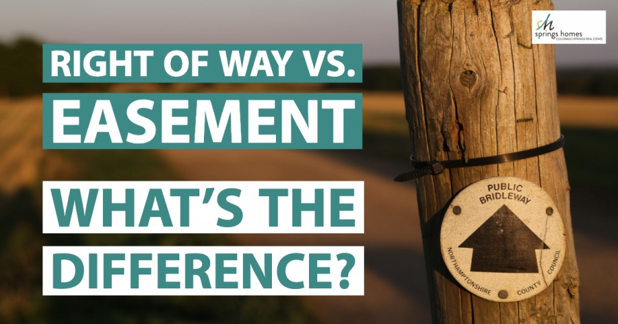 Right of Way vs Easement. What's the Difference?
