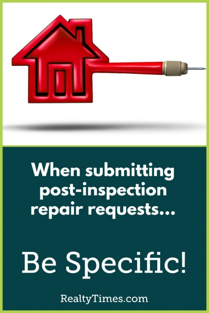 How to submit a repair request after completing a home inspection