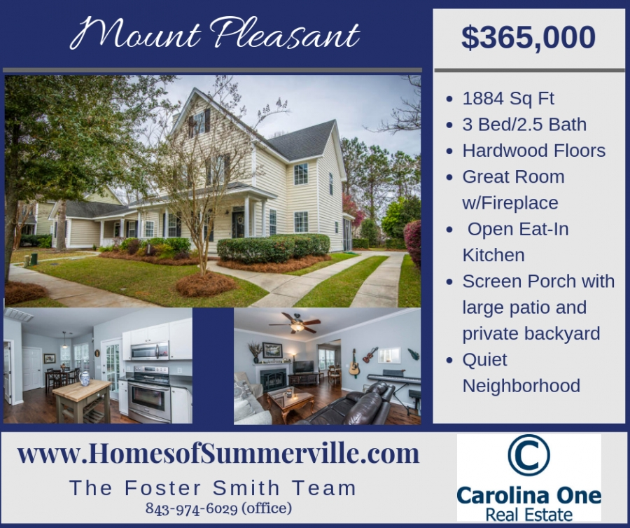 Home for Sale in Laurel Grove in Mount Pleasant, SC