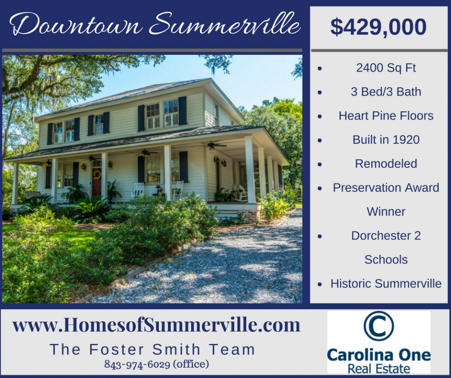 Historic Home for Sale in Summerville